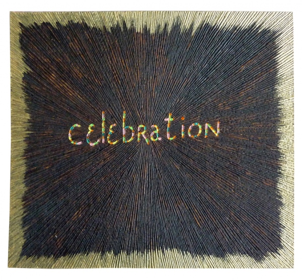 'Celebration'. Pyrography in multiplex, acrylic paint.. 40 x 44 x 0,4 cm. 2011.