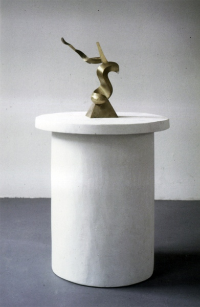 No title, bronze and plaster. Total height ca. 105 cm. Gallery The Hague (Fred Wagemans) 1985.