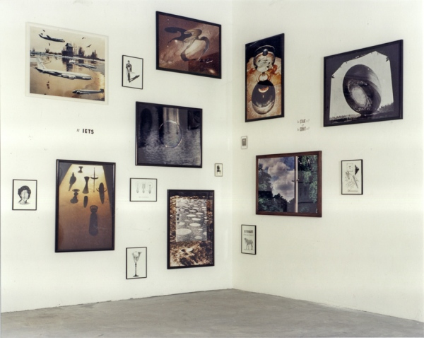 Presentation Gallery Hooghuis, Arnhem, 1990. Photoworks 80 x 110 cm. Little works 30 x 40 cm and 10 x 15 cm.