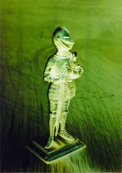 Knight in shiny armor. Photo on alucobond in perspex,150 x 100 cm.1995.